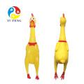 Screaming Yellow Rubber Chicken Pet Dog Toys Squeak Squeaker Chew Juguete para mascotas de regalo