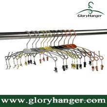 New Design Metal Underwear Hanger with Logo Plate