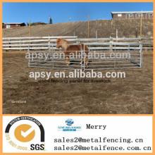 bon marché les clôtures tubulaires en métal de garde de paddock de yards ont employé le panneau de barrière pour le bétail