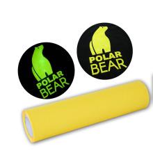 PU PES material Glow in the dark vinyl roll printable heat transfer vinyl on garments