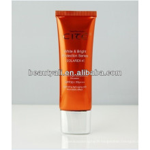 100ml cosmetic plastic packing super oval tube for women skin care cream with super oval cap