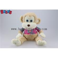 CE genehmigt super weiche gefüllte Affe Tiere mit rosa T-Shirt Bos1162