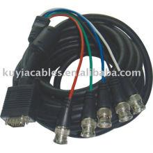 10M HD15 Pin VGA Stecker auf 5 BNC RGBHV Breakout Kabel