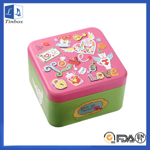 Square Watch Tin Case Containers With Lids