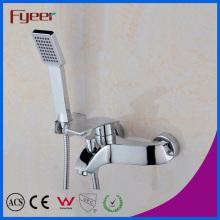 Fyeer grifo de ducha de dos hoyos grifo mezclador con ducha de mano