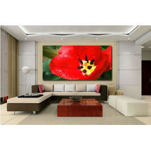 High Resolution canvas printing modern flower picture