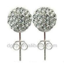 Boucle d'oreille en cristal de boule de cristal à la mode 2012
