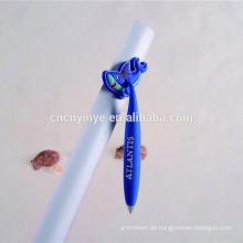 Individuelle PVC billig Werbe kurvenreich-Kugelschreiber