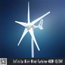 Gerador de vento 400W bobina de enrolamento (MINI5 400W)
