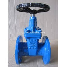 DN50-DN600 CAST IRON /ductile iron body non-rising stem resilient soft seated gate valve BS 5163