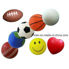 Promocionais Impresso Smiley Face PU Foam Stress Ball