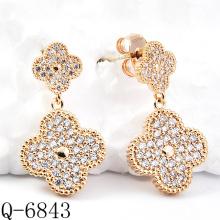 Neueste Styles Ohrringe 925 Silber Schmuck (Q-6843)
