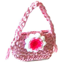 OEM Fashion Women′s Hand Crocheted Knitted Acrylic Wool Bag Handbags