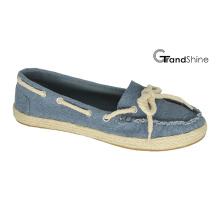 Women′s Casual Espadrille Canvas Flat Mocassin Shoes