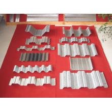 Образец профилегибочной машины для производства металлических настилов