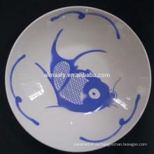 placas de cerámica impresas personalizadas para alimentos y frutas