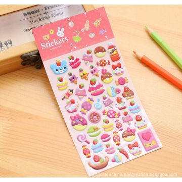 Custom adhesive cartoon 3D puffy sticker for kids