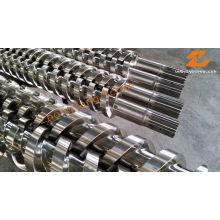 Tornillo de extrusión doble Tornillo paralelo y barril doble
