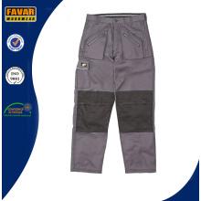 Cordura поли хлопок прочного работы брюки серый штаны строительные работы