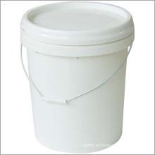 Plástico industrial del cubo del uso con grado comercial del OEM de la tapa