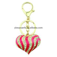 Высокое качество персик сердца кристалл брелок
