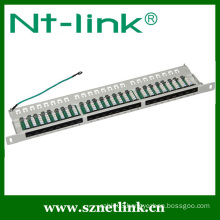 White Color Cat6 24 Port 1U Patch Panel