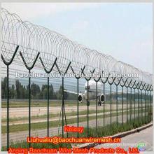 Alto fortalecer y la seguridad Y tipo post baja alambre de acero alambre aeropuerto cerca