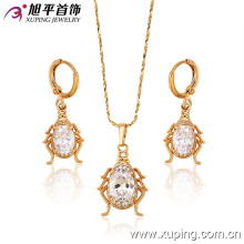 62922 Xuping best selling beatle shaped jewellery set with CZ stone