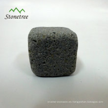 Piedras de whisky de hielo de piedra de lava