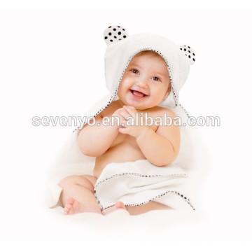 100% organique bambou à capuchon bébé serviette de bain double épais doux hypoallergénique bébé serviette pour nourrisson, nouveau-né, garçon fille cadeau