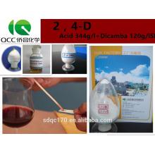 Herbicide 2,4-D Acide 98% TC 680 g / l 720 g / l 860 g / l N ° CAS: 94-75-7