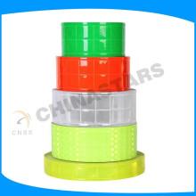 Fluorescente, amarelo, pvc, micro, prisma, reflexivo, fita