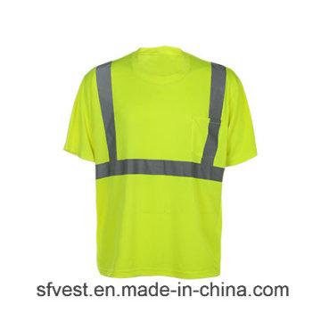 Camiseta de seguridad reflectante de alta visibilidad con resistencia a la llama