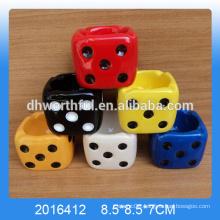 Modern design ceramic ashtrays,ceramic ashtray with dice shape