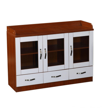 Wooden lockable 3 drawer office file cabinet