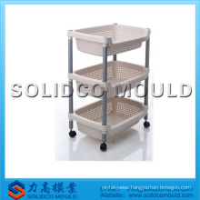 injection bathroom storage racks mould, plastic storage shelf moulding