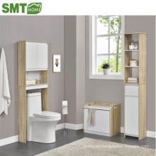 Wood Free Standing Toilet Paper Roll Holder Bathroom Storage Cabinet