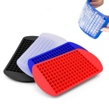 wholesale food grade household ice cream tools mini 160 cavities cubes molds silicone ice cube tray