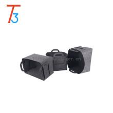 Customized high quality diy household organizer home use household organizer foldable gray cube storage box