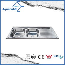Above Counter Stainless Steel Moduled Kitchen Sink (ACS-12050dB)