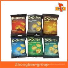 Kundenspezifische bedruckte dreiseitige versiegelte laminierte Plastikverpackungsbeutel für Nahrungsmittelverpackung