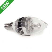 3W LED Candle Lamp with E14 Energy Saving Bulb Lights Ca107lede14ly01c27A-3
