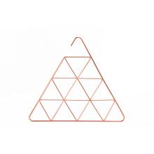 Rose gold copper triangular metal scarf hangers organizer