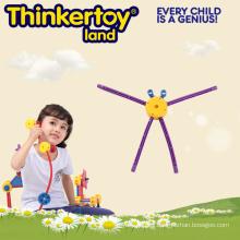 2015 juguetes educativos plásticos del assamble de la venta caliente para los cabritos
