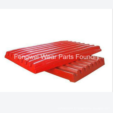 Pièces d'usure personnalisées en acier au manganèse à haute teneur en manganèse OEM