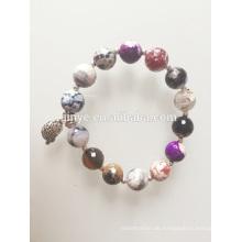 Bohemian bunten Achat Onyx Edelstein Perlen Armband