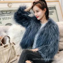 Prix usine directe vintage manteaux de fourrure de raton laveur