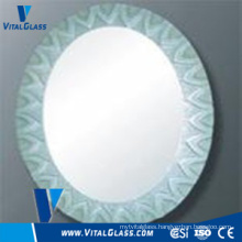Clear Float Silver Round Mirror for Bathroom Mirror