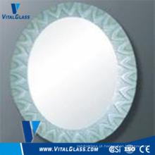 Clear Float Silver Round Mirror for Bathroom Mirror