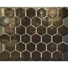 Glossy Black Hexagon Mosaic Made by Ceramic (CST145)